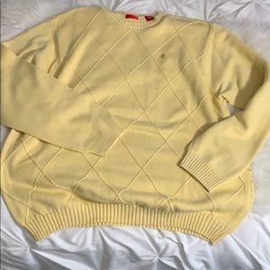 Mens Yellow IZOD Sweater